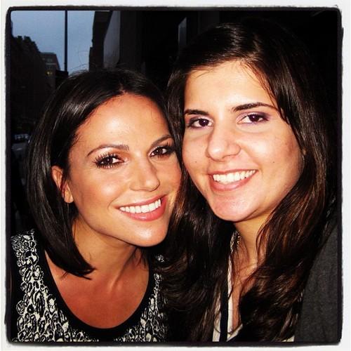 Lana posing with a fan:ABC Drama