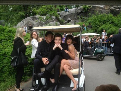 Lea and Cory at 狐狸 Upfronts 2012