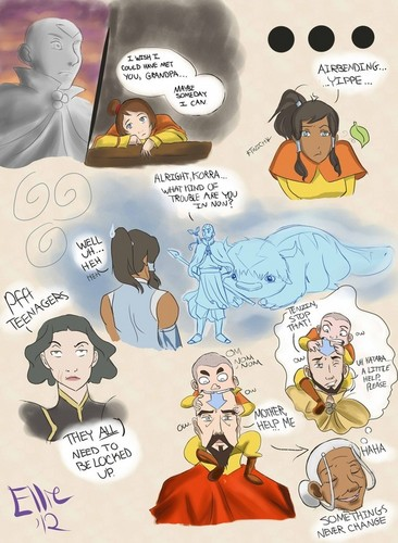 Legend of Korra sketches