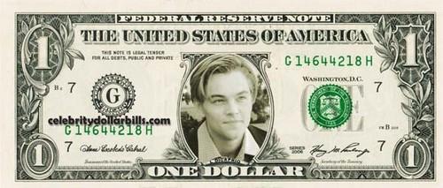 Leo DiCaprio dollar bill