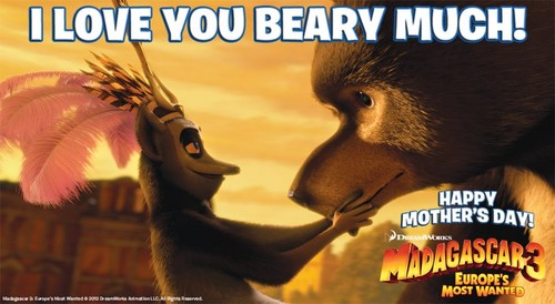 Madagascar 3 Mother`s araw card