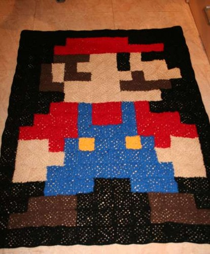Super Mario Bros hình nền entitled Mario blanket
