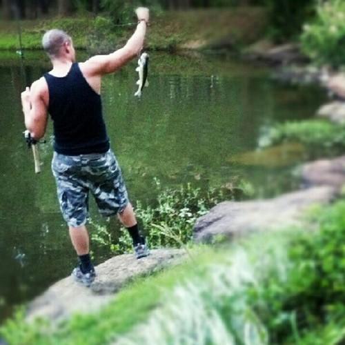 Mark fishing in Texas