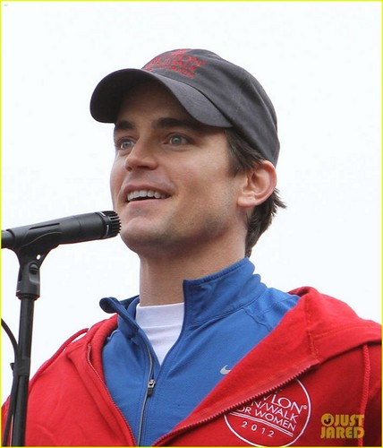 Matt Bomer: Revlon Walk with Simon Halls & Kit!