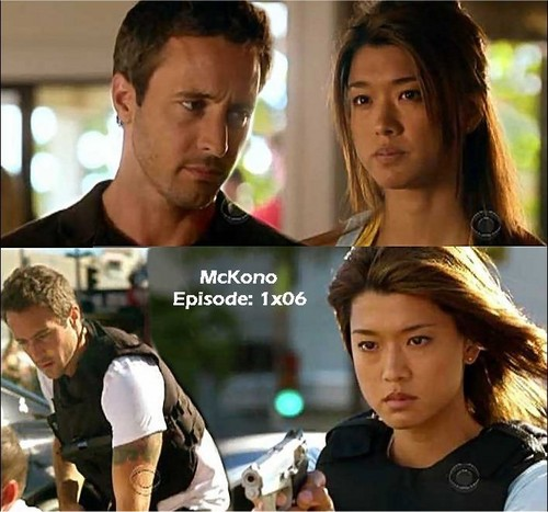 Steve and Kono kertas dinding with a portrait called McKono - 1x06