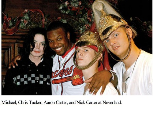 Michael Jackson, Mike Tyson, Aaron Carter and Nick Carter at Neverland