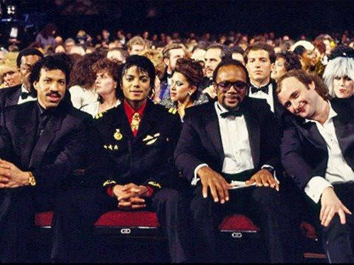 Michael Jackson , Stivie Wonder and Lionel Richie (rare) ♥