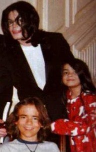 Michael Jackson with his sons Prince and Blanket Jackson