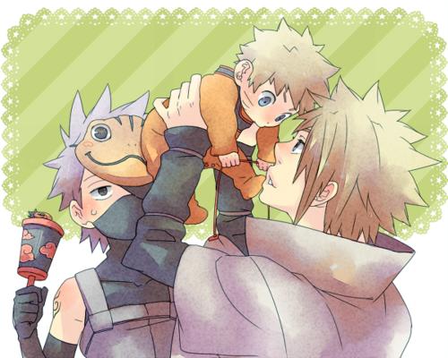 Minato Namikaze wallpaper with anime titled Minato Namikaze & Naruto x3