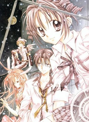 Mitsuki, Meroko, Takuto and Izumi at night