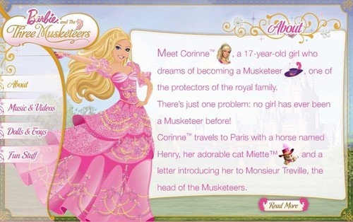Movie plot from Barbie.com