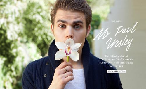 Mr Porter - The Look: Mr Paul Wesley
