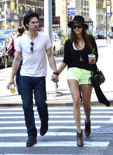 NYC MAY 13TH - ian-somerhalder-and-nina-dobrev Photo