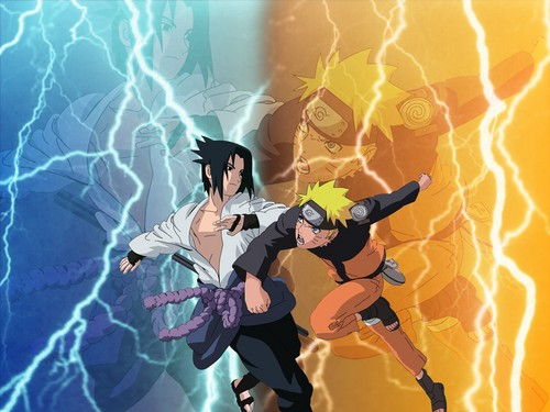Naruto - Shippuden wallpaper called Naruto vs Sasuke..........Victoror Unknown....