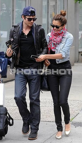 Nian NYC - ian-somerhalder-and-nina-dobrev Photo