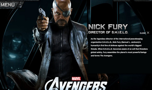 The Avengers achtergrond with a newspaper and anime entitled Nick Fury