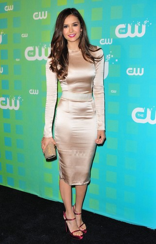 Nina Dobrev fond d'écran containing a well dressed person called Nina Dobrev at The CW Upfronts