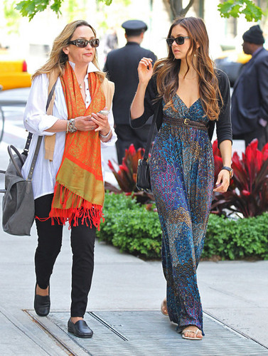 Nina and her mom leaving hotel in NYC May 11