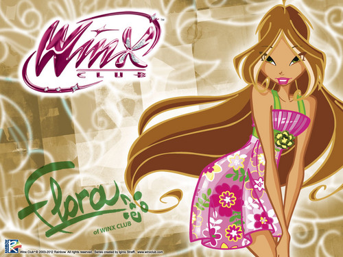 Official wallpaper 2012 Flora City girl(1) - the-winx-club Wallpaper