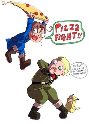 pizza FIGHT!!!