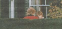 Princess Diana having a deep conversation with William
