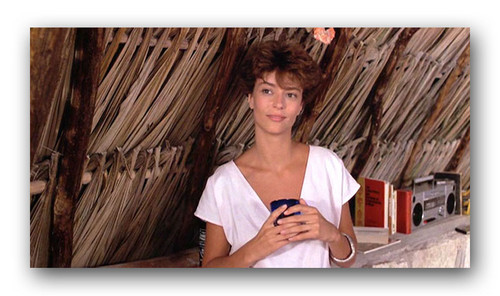 "The Thorn Birds wallpaper with a thatch entitled Rachel Ward in ""Against all odds"""