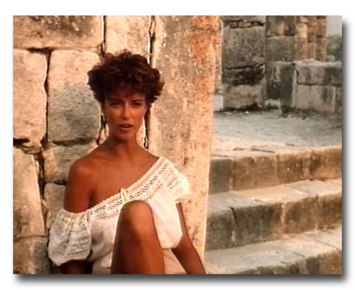"The Thorn Birds wallpaper with a portrait titled Rachel Ward in ""Against all odds"""