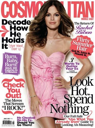"Rachel in ""Cosmopolitan"" magazine. {Middle East - May 2012}"