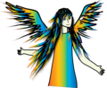 Rainbow Angel - angels fan art