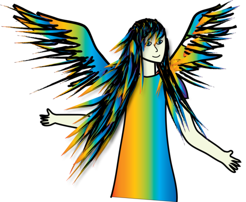 pelangi, rainbow Angel
