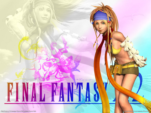 Final Fantasy X wallpaper possibly with a bouquet and a portrait called Rikku