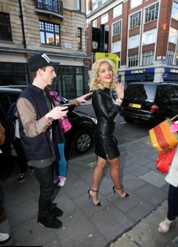 Rita Ora - Leaving Radio 1 having Reached Number 1 This Week - May 13, 2012