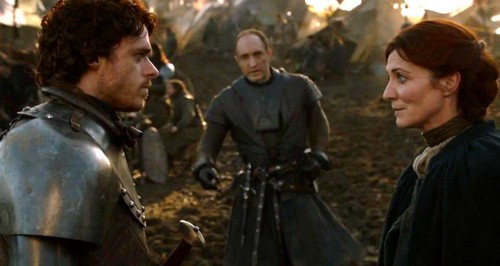 Robb and Catelyn with Bolton