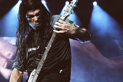<b>Robert Trujillo</b> ( guitarist) and yes he does have braids ...