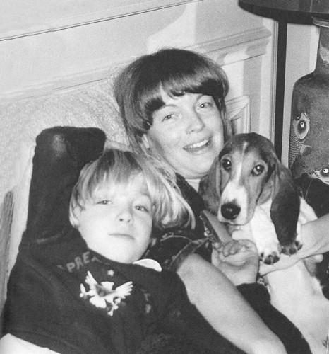 Romy Schneider and son David