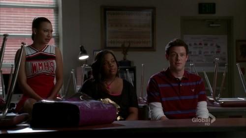 Santana, Mercedes and Finn