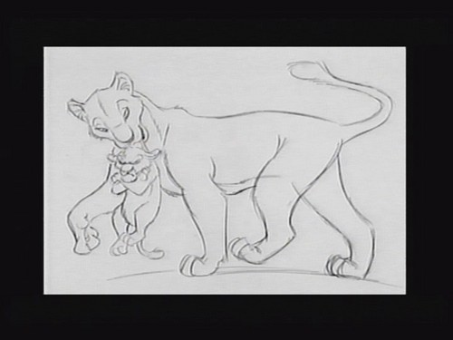 Sarabi & Simba art script