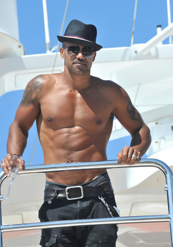 Shemar Moore Sips Champagne on a Yacht