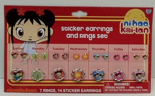 Sticker Earrings and Rings Set