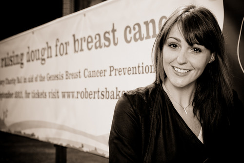 Suranne Jones working with Roberts Bakery to promote their ball in aid of breast cancer charity Gene