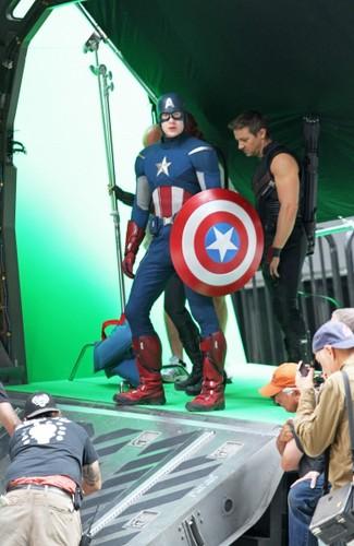 The Avengers BTS