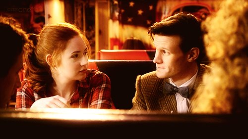 Eleven & Amy wallpaper probably with a business suit called The Doctor & Amy Pond [season 6] <333