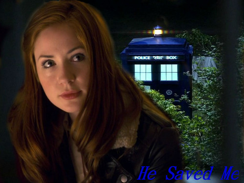 Amy Pond वॉलपेपर probably containing a street, a box coat, and a well dressed person entitled The God Complex