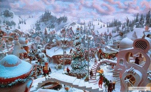 How The Grinch Stole Christmas wallpaper possibly containing a street, a snowbank, and a sumac entitled The Grinch