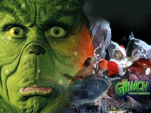 How The Grinch украл, палантин Рождество Обои probably with a sign entitled The Grinch