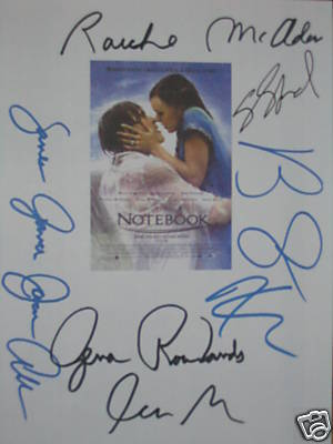 The Notebook autographs