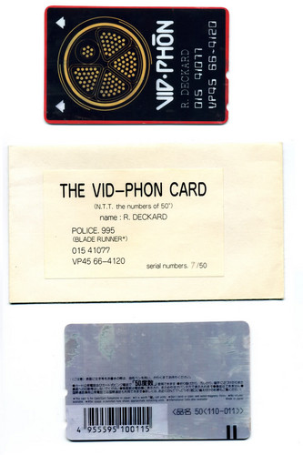 Blade Runner wallpaper called The Vid-Phon Card