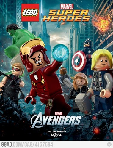 The avengers in Lego