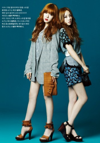 "Tiffany & Taeyeon for ""High Cut"" - girls-generation-snsd Photo"