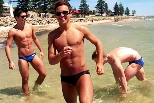 Tom Daley wallpaper possibly with swimming trunks and skin called Tom 2012